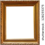 old antique gold picture frame... | Shutterstock . vector #128255375