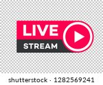 vector live stream icon flat...
