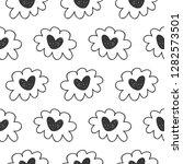 vector hand drawn hearts... | Shutterstock .eps vector #1282573501