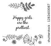 ornate floral boho frame and...   Shutterstock .eps vector #1282603087