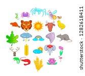 manifold icons set. cartoon set ... | Shutterstock . vector #1282618411