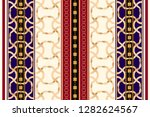 baroque striped seamless... | Shutterstock .eps vector #1282624567