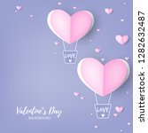 valentine's day background with ...   Shutterstock .eps vector #1282632487