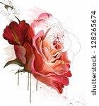 Beautiful Rose  Watercolor