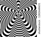 abstract twisted black and...   Shutterstock .eps vector #1282668631