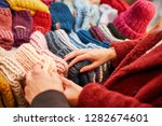 close up of choosing caps and... | Shutterstock . vector #1282674601
