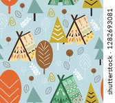 seamless pattern forest in... | Shutterstock .eps vector #1282693081