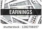 earnings closeup concept.... | Shutterstock . vector #1282708357