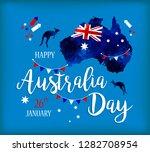 happy australia day lettering....   Shutterstock . vector #1282708954