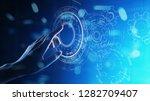 copyspace  blueprint  drawing ...   Shutterstock . vector #1282709407