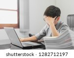 businessman having stress with... | Shutterstock . vector #1282712197
