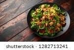 roasted brussel sprouts  bacon... | Shutterstock . vector #1282713241