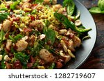 roasted brussel sprouts  bacon... | Shutterstock . vector #1282719607