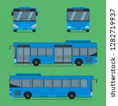 the blue bus ngv driver fare... | Shutterstock .eps vector #1282719937