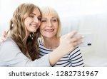 charming blogger shooting... | Shutterstock . vector #1282731967