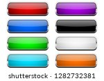 colored glass button. shiny... | Shutterstock .eps vector #1282732381