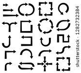 arrows. direction markers.... | Shutterstock .eps vector #1282732384