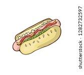fast food hotdog icon vector... | Shutterstock .eps vector #1282732597