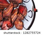 smoked meat isolated on the... | Shutterstock . vector #1282755724