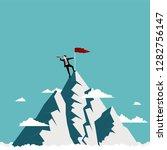 businessman standing on top of... | Shutterstock .eps vector #1282756147