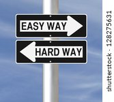 conceptual one way road signs... | Shutterstock . vector #128275631
