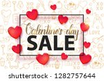 valentine's day sale background ...   Shutterstock .eps vector #1282757644