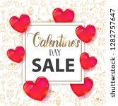 valentine's day sale background ...   Shutterstock .eps vector #1282757647