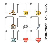 set of blank documents icons... | Shutterstock .eps vector #1282762327