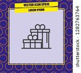 gift icon vector | Shutterstock .eps vector #1282763764