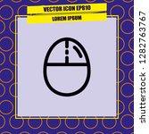 mouse icon vector | Shutterstock .eps vector #1282763767