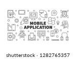 mobile application vector... | Shutterstock .eps vector #1282765357