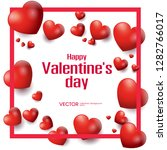 happy valentines day romance... | Shutterstock .eps vector #1282766017