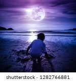landscape of night sky with...   Shutterstock . vector #1282766881