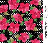 floral seamless pattern with...   Shutterstock .eps vector #128276891