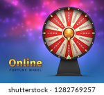 fortune wheel background. lucky ... | Shutterstock .eps vector #1282769257