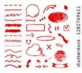 highlight doodle. select arrow... | Shutterstock .eps vector #1282769611
