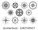 vintage compass. nautical map... | Shutterstock .eps vector #1282769617