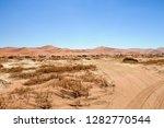 desert road in the namib desert ... | Shutterstock . vector #1282770544