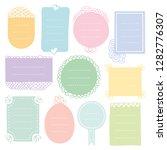 bullet journal hand drawn... | Shutterstock .eps vector #1282776307