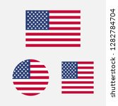 set of usa flags in different... | Shutterstock .eps vector #1282784704