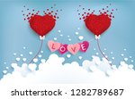 love and balloon above the... | Shutterstock .eps vector #1282789687