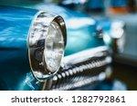 soviet blue car headlights...   Shutterstock . vector #1282792861