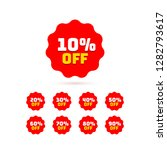 tags set with discount offer.... | Shutterstock .eps vector #1282793617