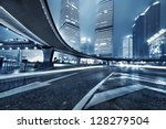 the light trails on the modern... | Shutterstock . vector #128279504