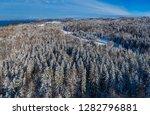 winter landscape with snowy...   Shutterstock . vector #1282796881