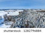 winter landscape with snowy...   Shutterstock . vector #1282796884