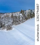 winter landscape with snowy...   Shutterstock . vector #1282796887