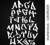 graffiti font alphabet letters. ...   Shutterstock .eps vector #128280305