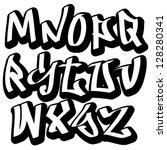 graffiti font alphabet letters. ...