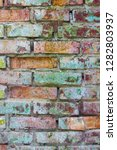 grunge colored brick wall. old... | Shutterstock . vector #1282803937